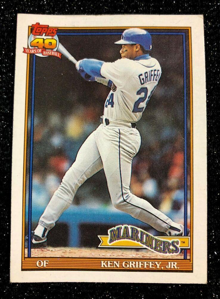 1991 topps ken griffey 790 baseball card seattle mariners