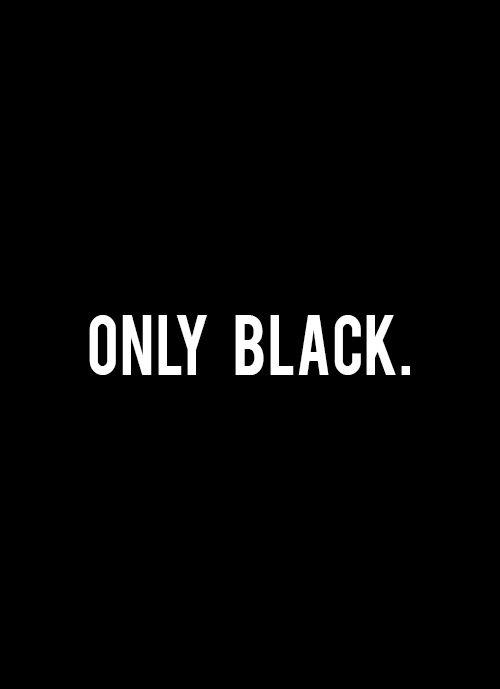 Люблю только чёрный цвет