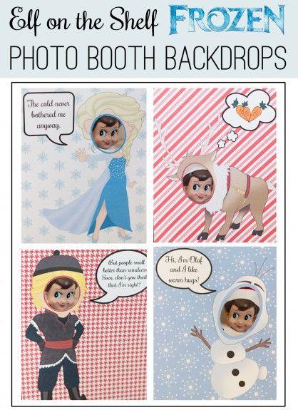 FREE PRINTABLE Elf on the Shelf Frozen Photo Shoot ...