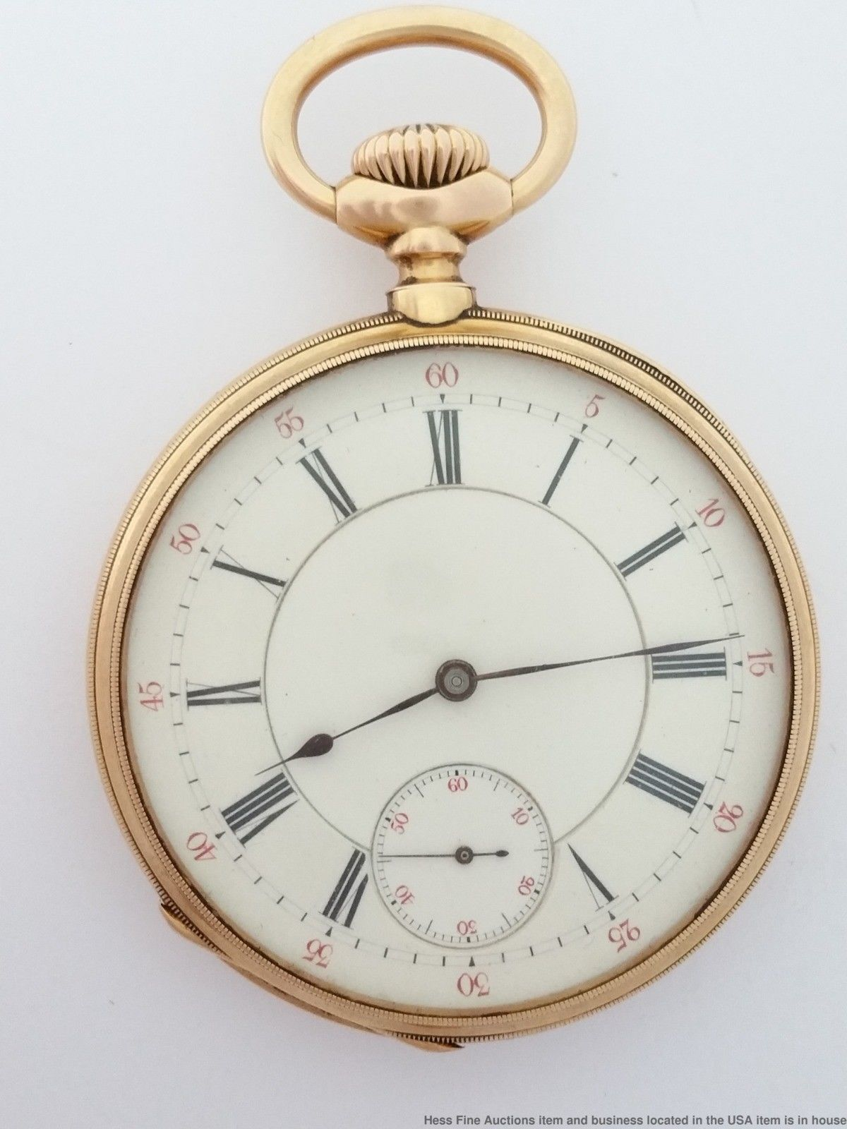 9018a27ca Rare Dial Very Early Patek Philippe Pocket Watch Matching Serial # 18K Gold    eBay