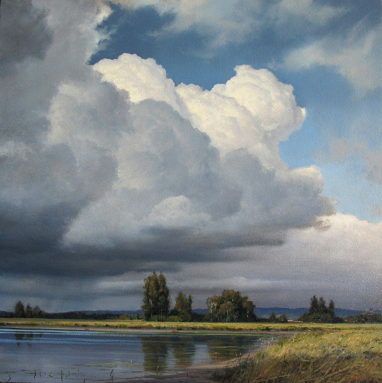 Landscape Painting Clouds