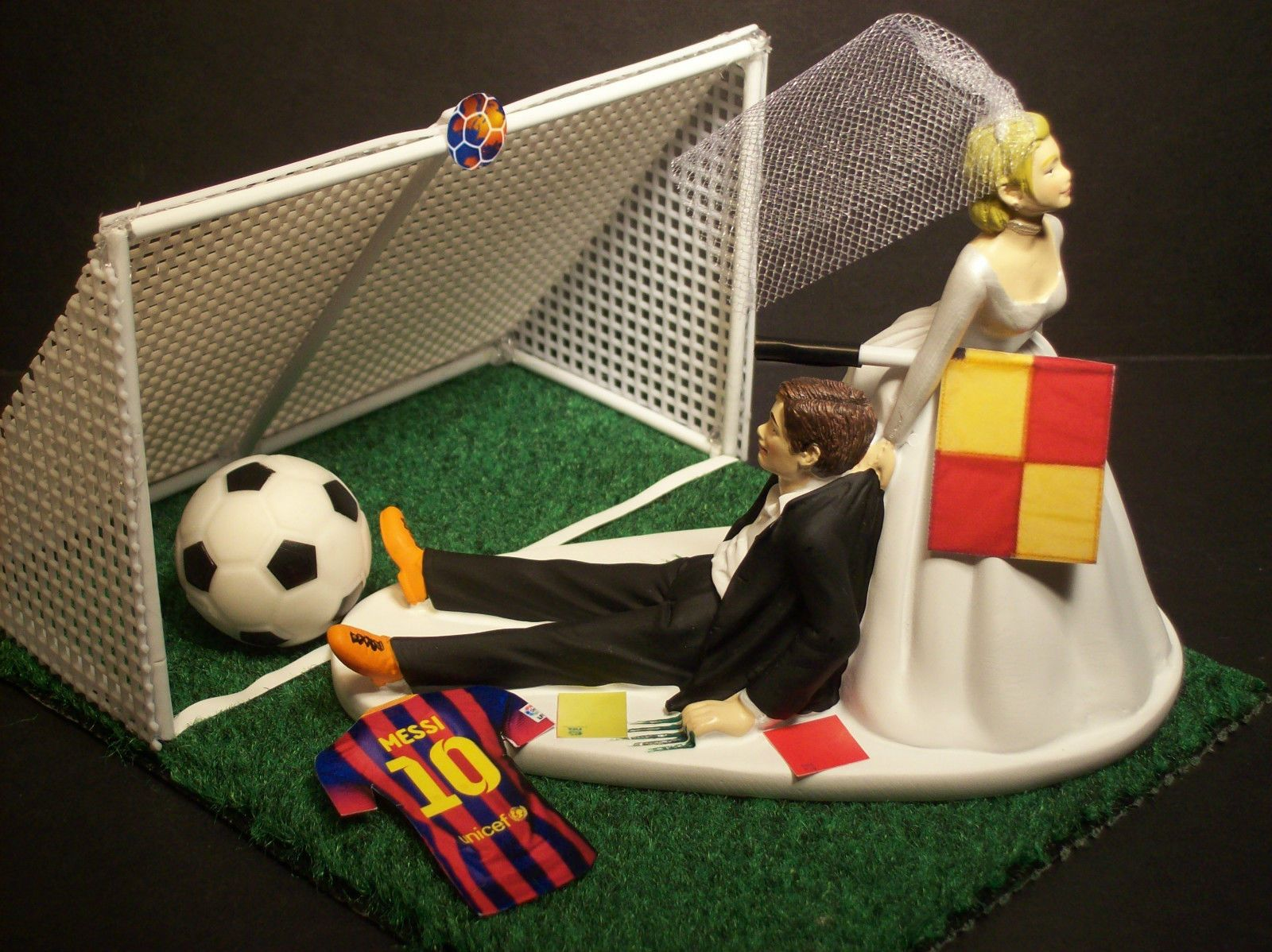 wedding cake toppers soccer no soccer football futbol groom fifa goal wedding 8839