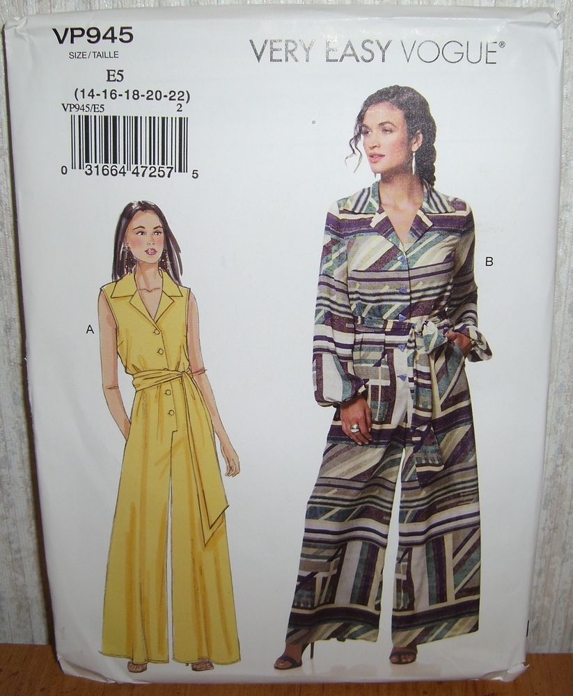 beda578d Womens/Misses & Petite Jumpsuits Rompers Sewing Pattern/Vogue VP945 ...