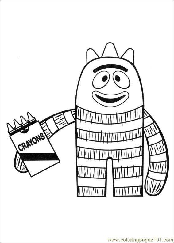 Yo Gabba Gabba Coloring Pages Coloring Pages Yo Gabba Gabba 01 Cartoons Others Free Pr Yo Gabba Gabba Printable Christmas Coloring Pages Coloring Pages