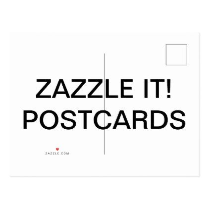 Custom Personalized Matte Postcard Blank Template Create Your Own - Make your own postcard template