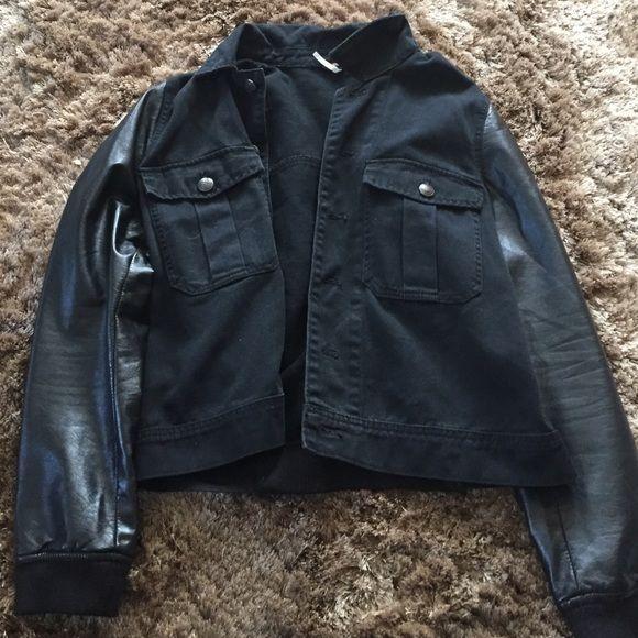 Free people vegan leather coat Bomber jacket from free people Free People Jackets & Coats Jean Jackets