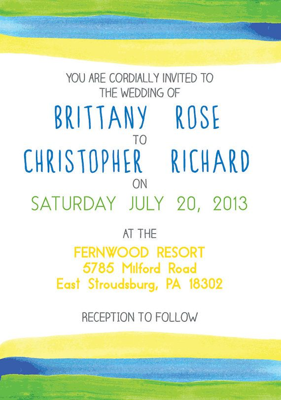 Watercolor Invitation by ExclusiveGraphics on Etsy, $35.00