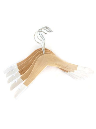 Hung On Colour Hangers - Classic White