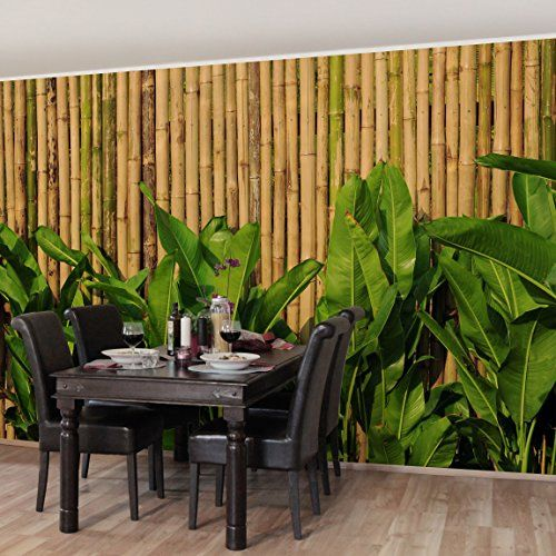 Picture Sensations Canvas Texture Wall Mural Bamboo Tree Self - How to get vinyl decals to stick to textured walls