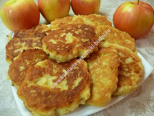 Пышные оладьи с яблоками рецепт с фото
