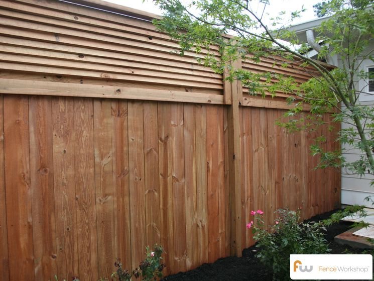 The Stanton Louvered Top Wood Privacy Fence Pictures