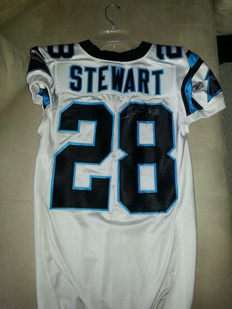 771dbff0 jonathan stewart game worn used jersey signed carolina panthers from ...