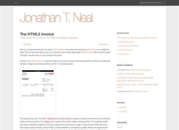 html5 invoice is based on chris coyier s lightweight html invoice