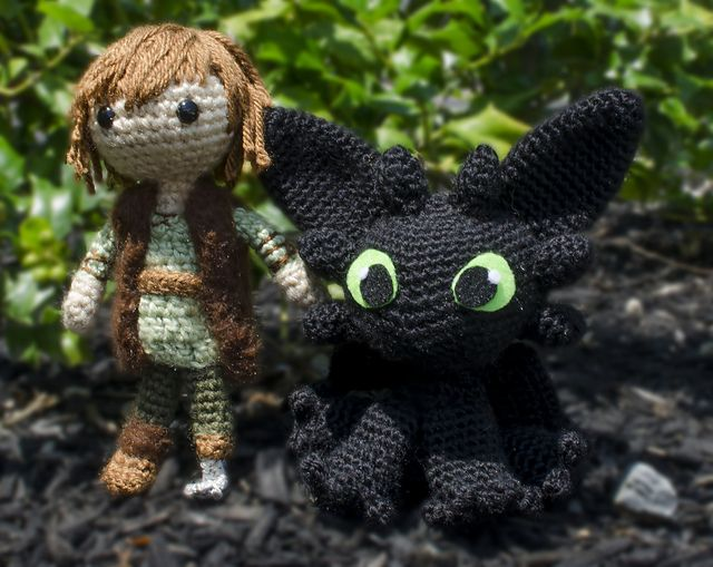 Toothless Dragon Amigurumi Pattern : Ravelry jessieamber s hiccup and toothless amigurumi