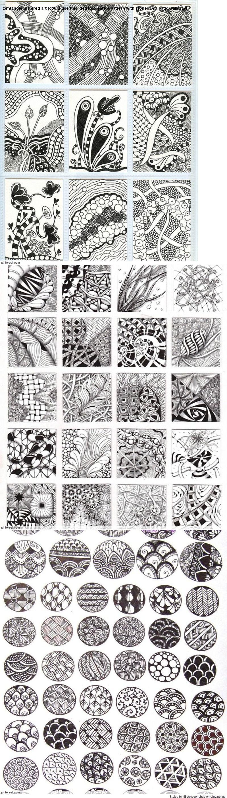 Zentangle Pattern Ideas Cool Design Inspiration