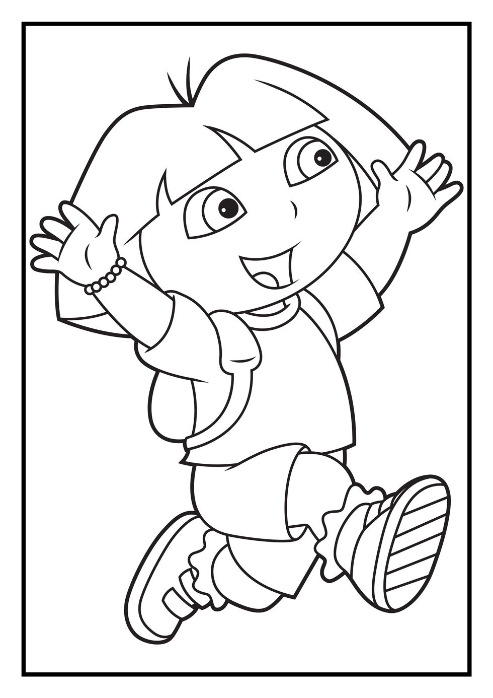 Stunning dora coloring pages to print out according for Dora the explorer coloring pages online free