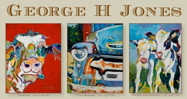 Proud to represent George H. Jones at RS Hanna Gallery.   Featured in the July 2015 Cowboys and Indians Magazine.   RS Hanna Gallery is located in Fredericksburg, Texas.   (830) 307-3071