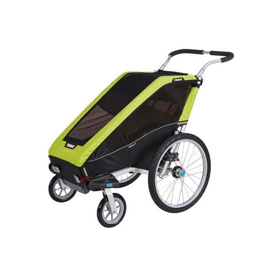 Thule Chariot Cheetah Xt Trailer In Chartreuse And Black 10100426 Chartreuse And Black Modern Nurs Thule Chariot Double Bike Trailer Bike Trailer