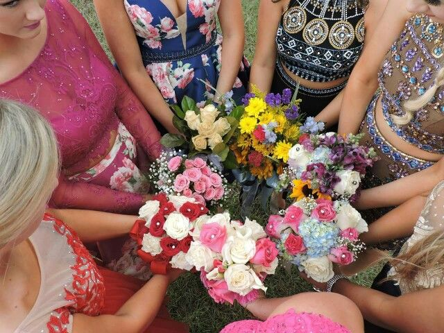 Homecoming bouquets