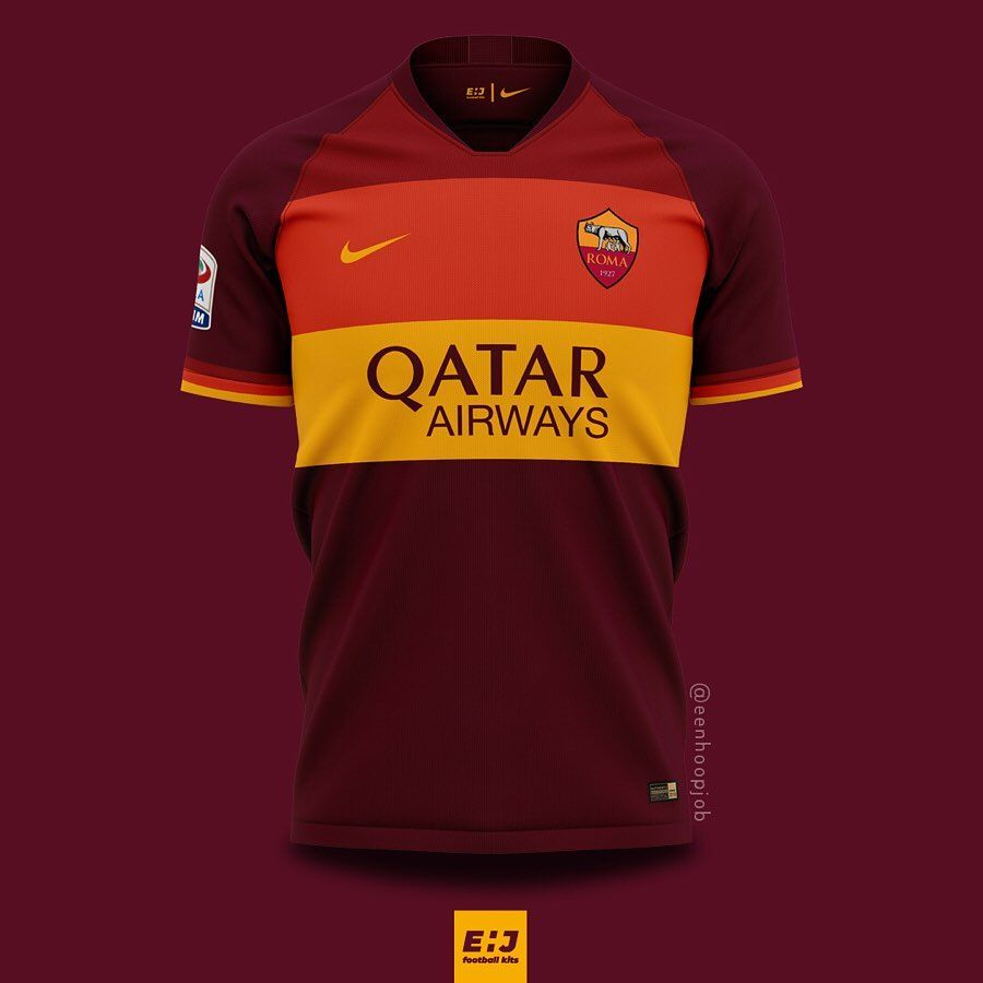 Job Ehj Football Kit Designs On Instagram As Roma X Nike 2020 2021 Concepts Please Rate 1 10 Thoughts About These Designs In 2020 Football Kits As Roma Roma
