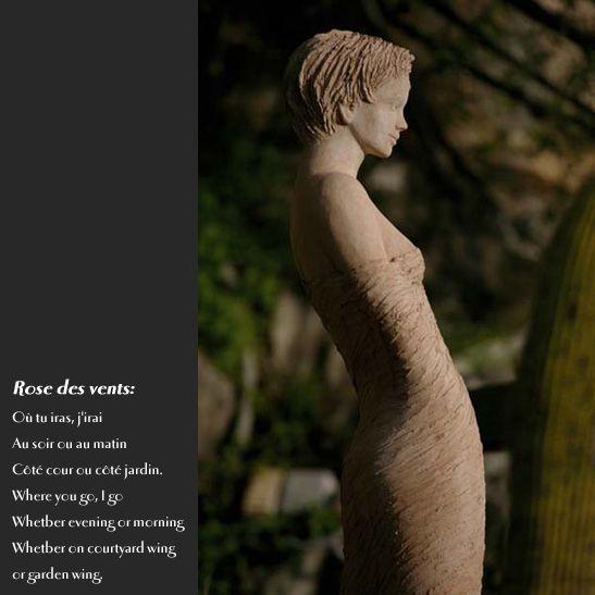 Jardin d\'Eze : statue de femme Rose des sables - Jean-Philippe ...