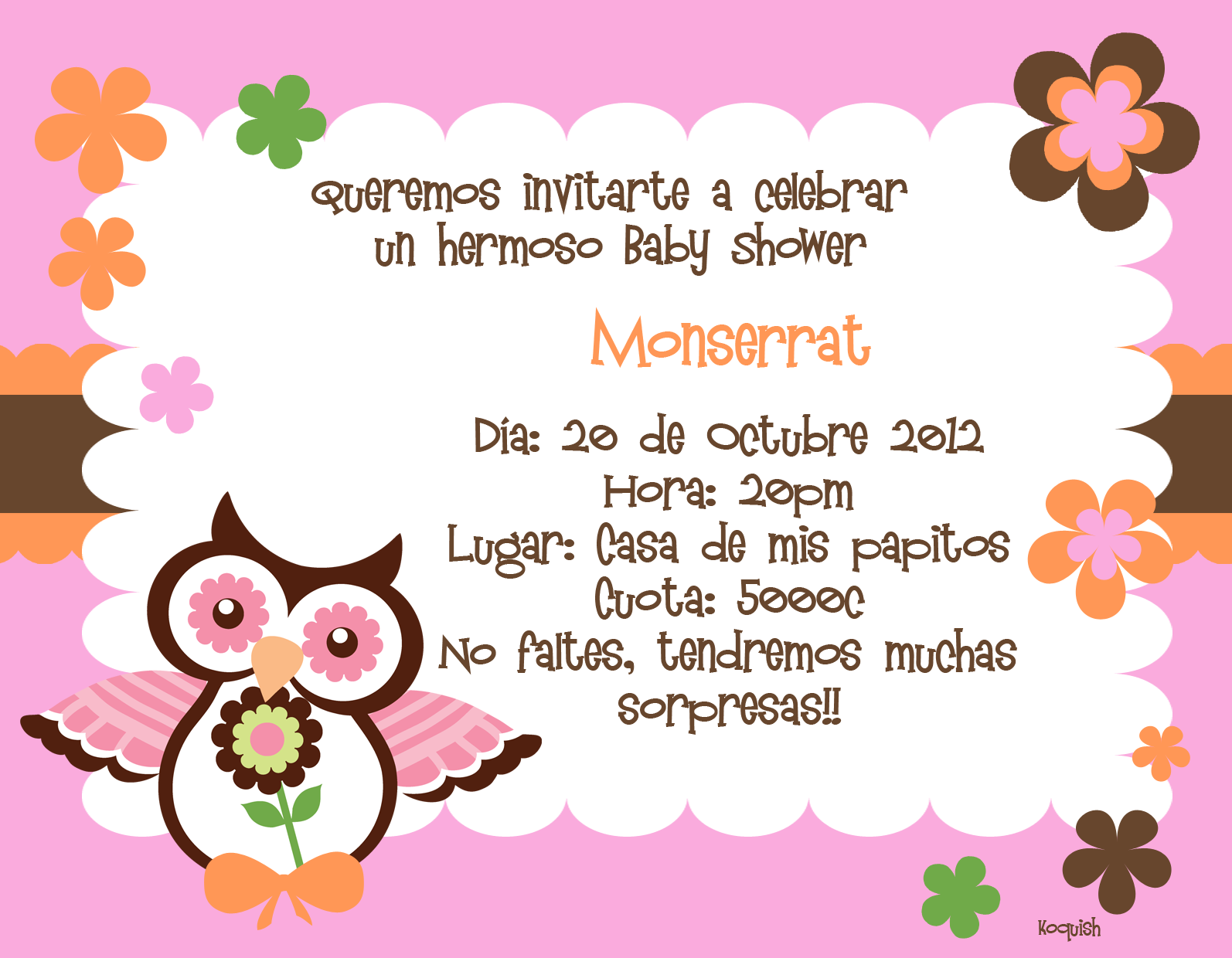 de8ee9dbe9df2 invitación en español - Google Search Baby Shower Invitaciones