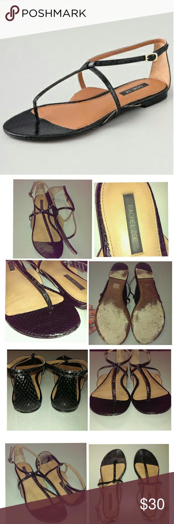 929fda67e Rachel zoe gwen snakeskin sandals