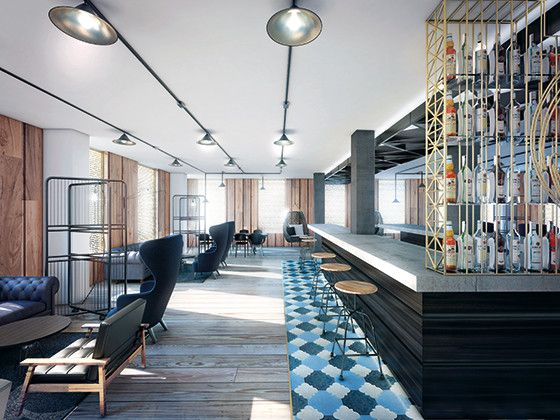 Bacardi Office london use of woods and rugs is amazing office