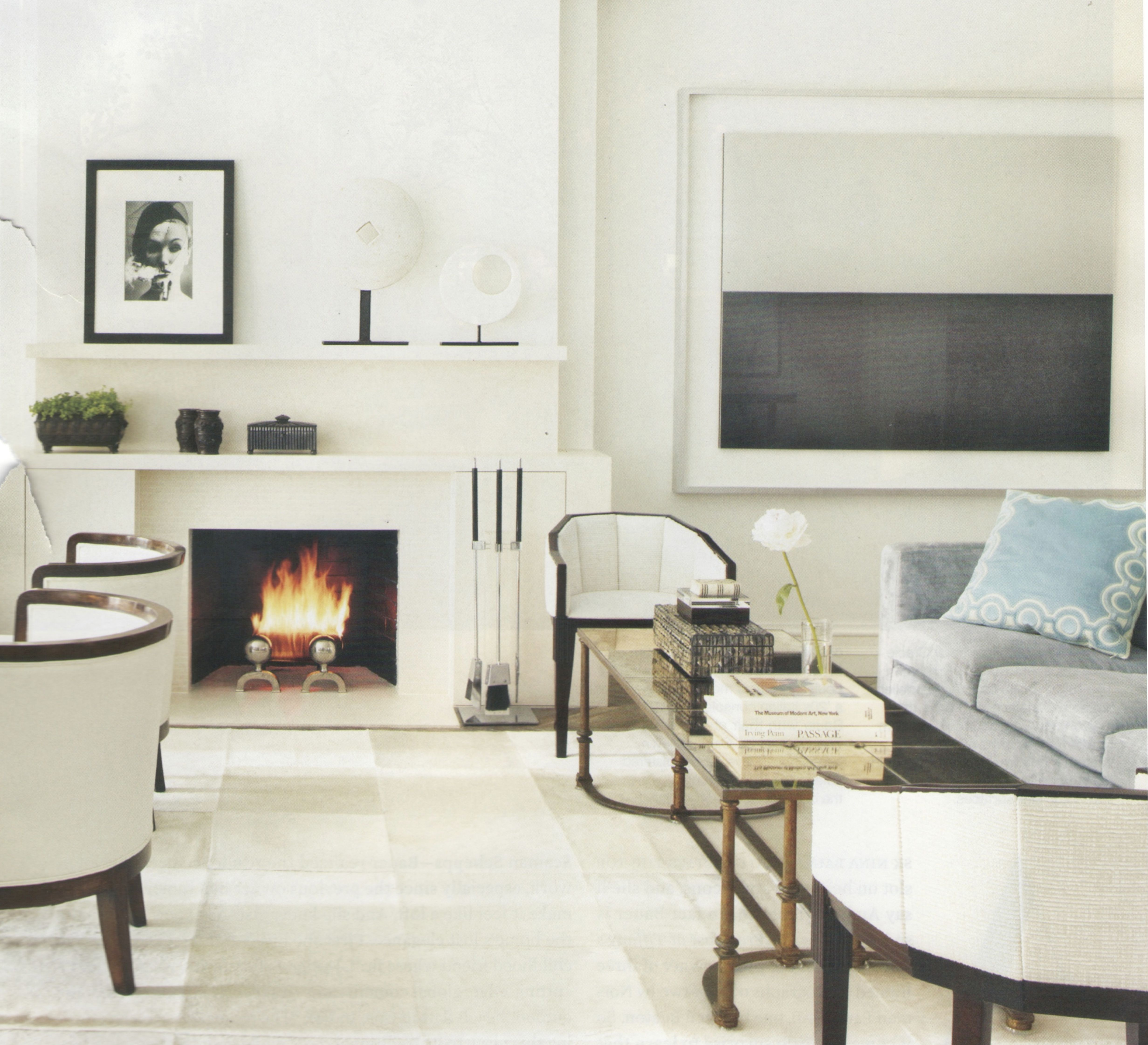 Best Fireplace May 2011 Architectural Digest Contemporary 400 x 300