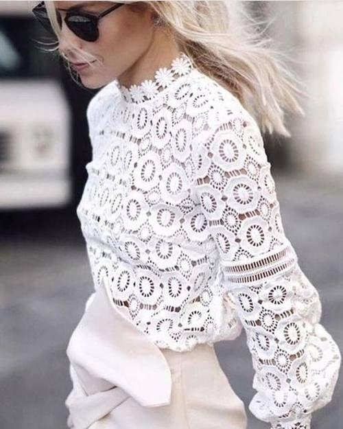 Imagen de blouse, chic, and lace