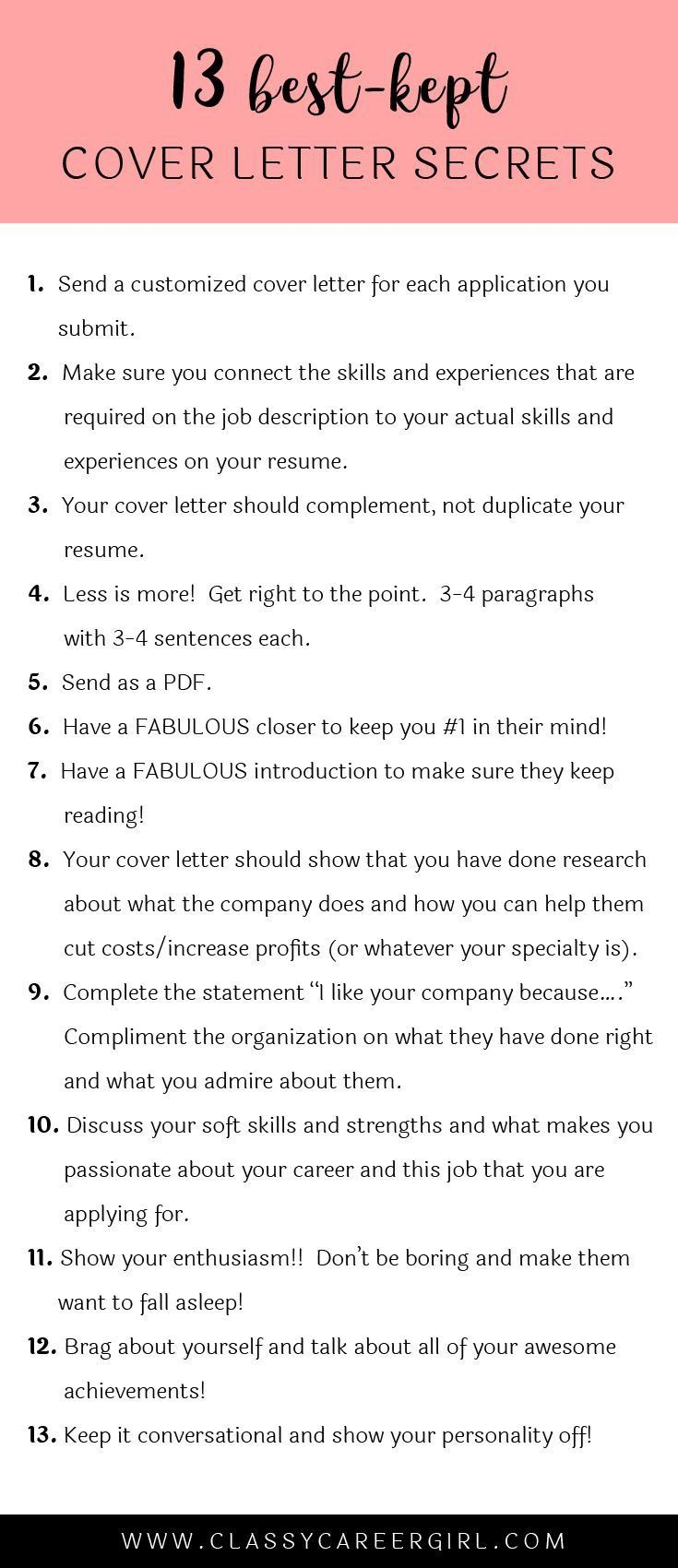 Tips For Cover Letters Cover Letter Secrets  Resume  Pinterest  Adulting Job