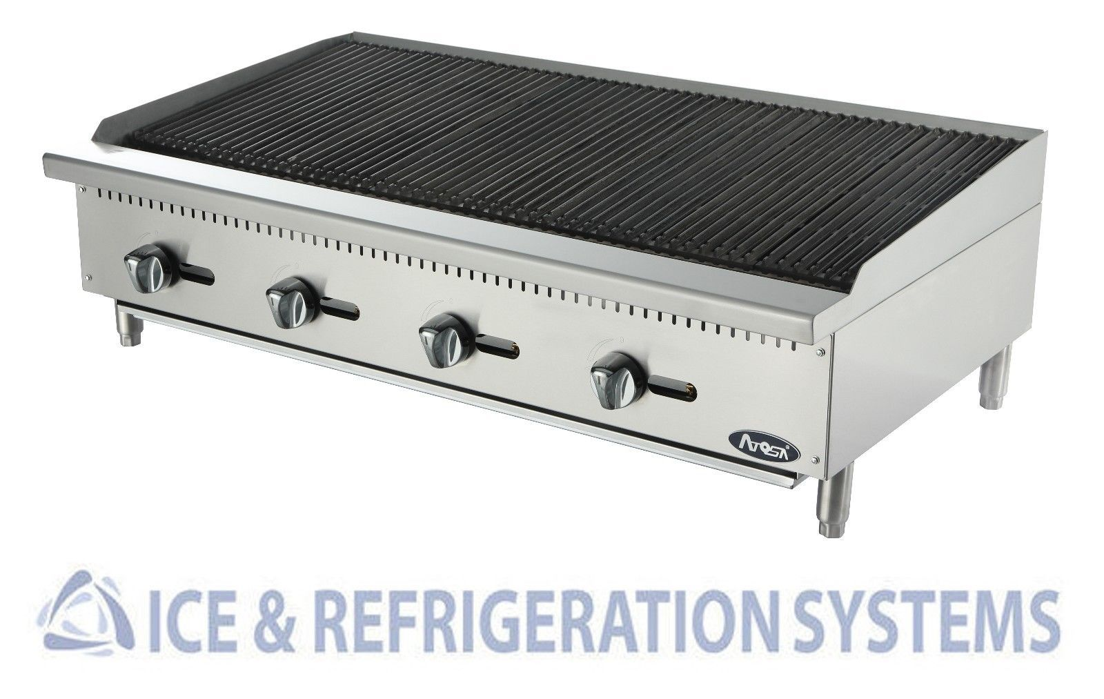 Atosa 48 Commercial Gas Propane Countertop Char Rock Broiler