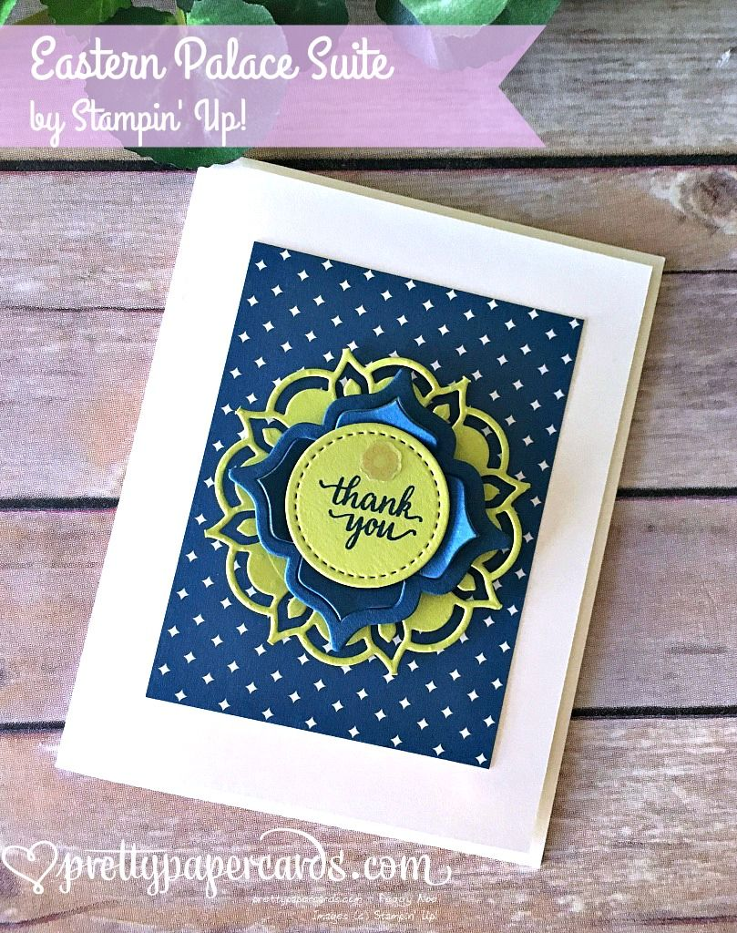 Handmade Thank You Card Die Cut Medallion From Oriental Palace