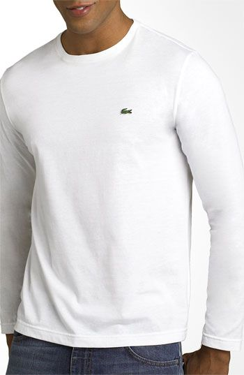 564479d48ecc22 Men s Lacoste Long Sleeve Pima Cotton T-Shirt