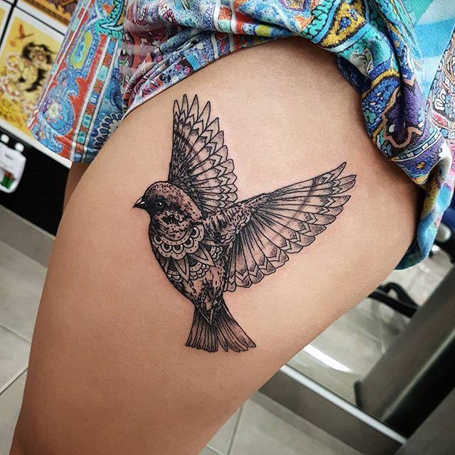 Bird Henna Tattoo: Hand Tattoos