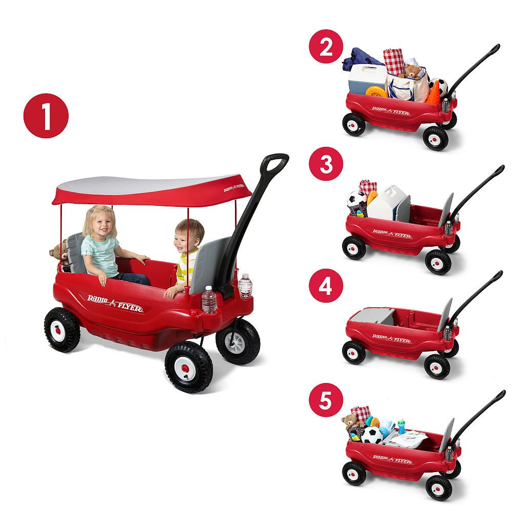 The Radio Flyer Deluxe All Terrain Family Wagon is