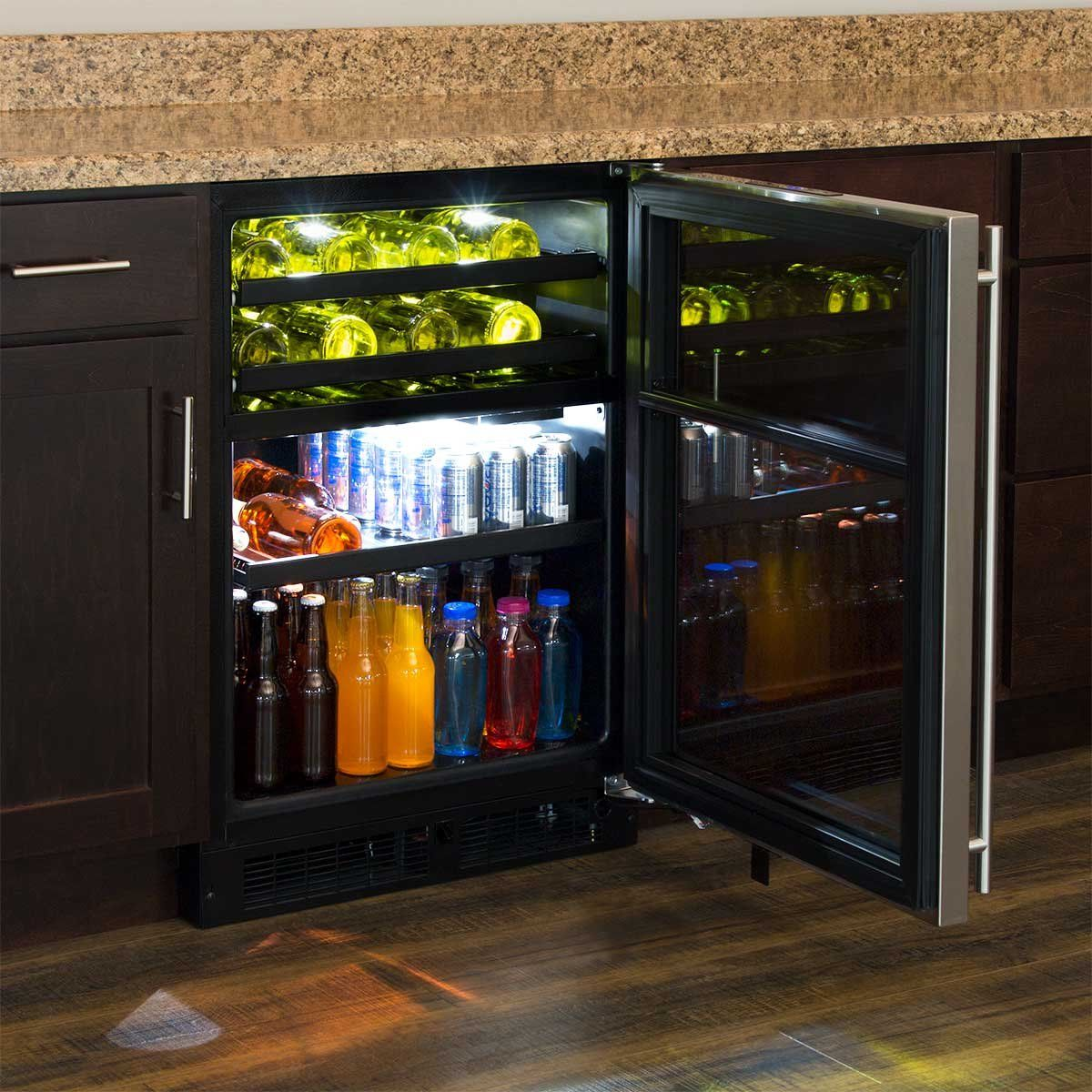 Marvel 24 Dual Zone Wine and Beverage Center right hinge