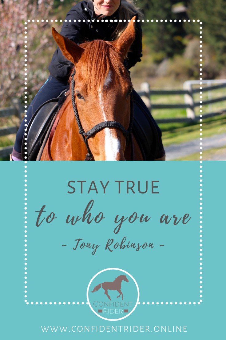 Stay True To Who You Are Tony Robinson In 2020 Emotional Resilience Horse Rider Rider