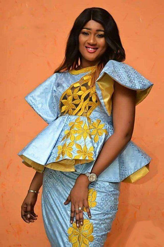 Mode africaine vêtements haut de gamme Getzner magnum or