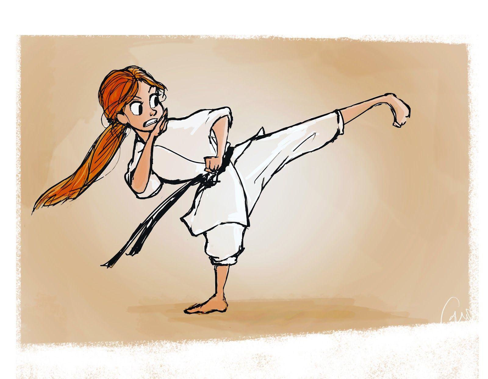 Karate Las Chicas Son Guerreras Ilustracoes Mulheres De Artes Marciais Desenhos