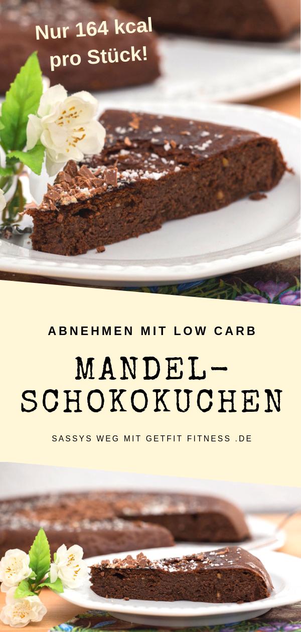 Mandel Schoko Kuchen Aus Der Pfanne Sassys Weg Mit Getfit Fitness Rezept Kalorienarm Backen Rezepte Wenig Kalorien Gesunde Kuchen