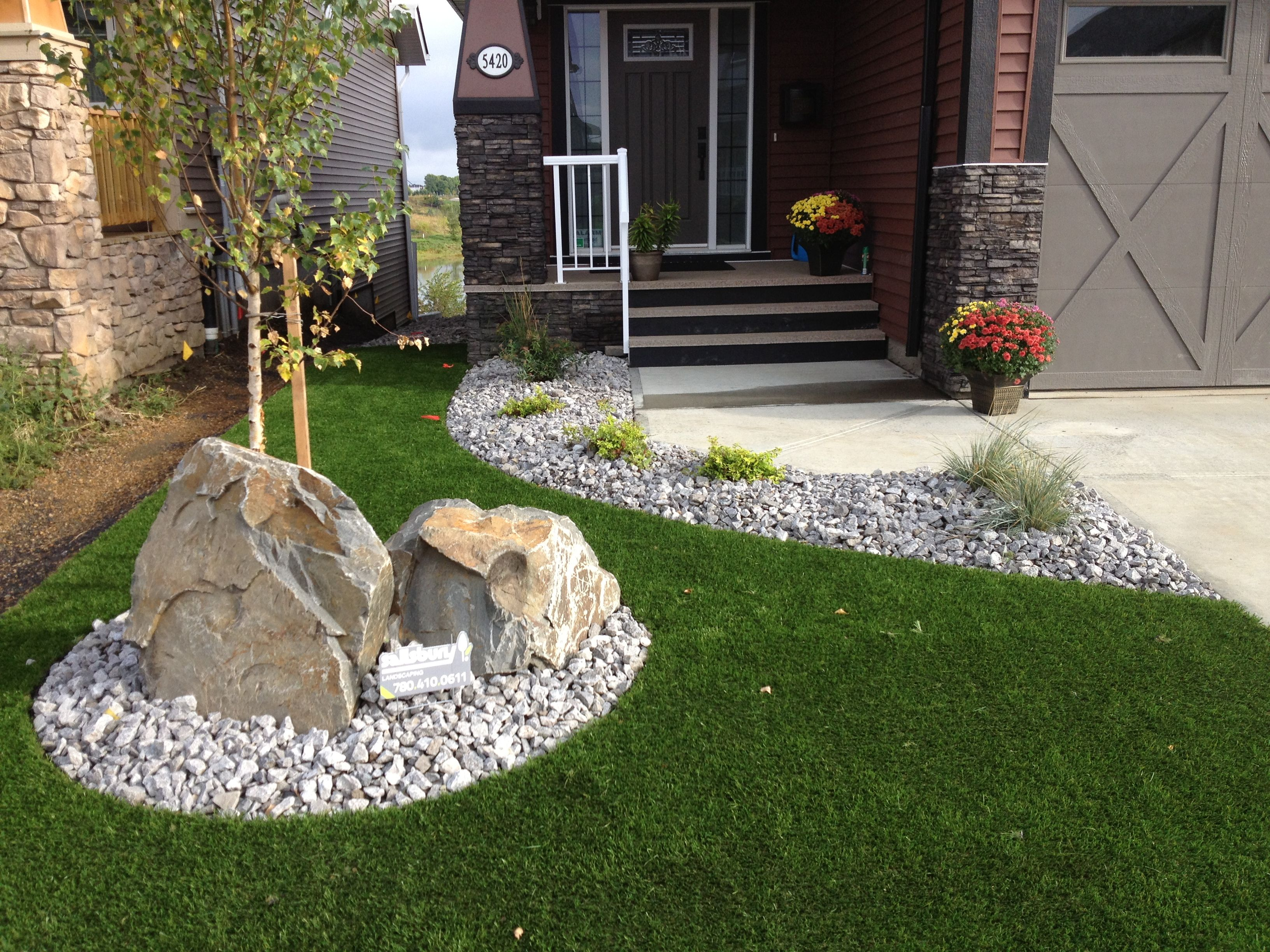 stone work and great front yard