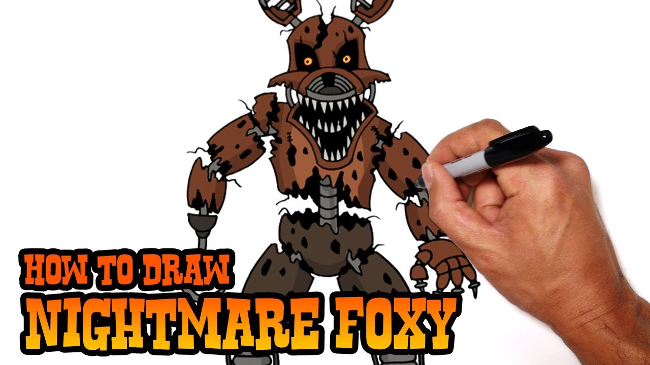 How To Draw Nightmare Foxy (fnaf 4) Step By Step