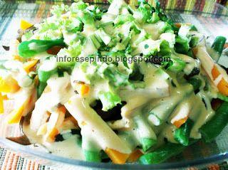 Resep Salad Sayuran Sehat Saus Mayonaise Sederhana Aneka Resep Masakan Serba Nusantara Resep Salad Makanan Dan Minuman Resep