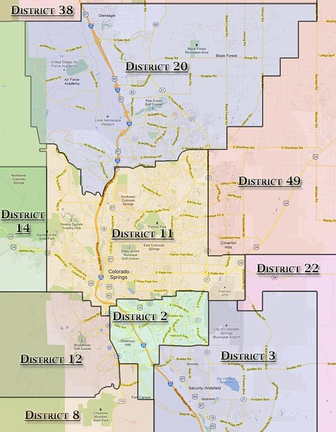 Image result for colorado springs school district map ...