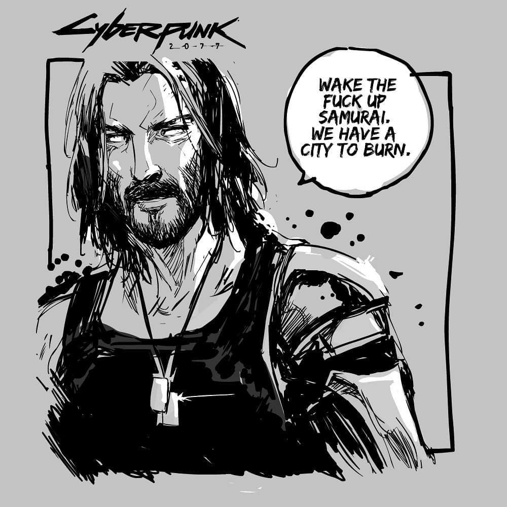 "Johnny Silverhand (""Cyberpunk 2077"")   Киберпанк, Самурай ..."