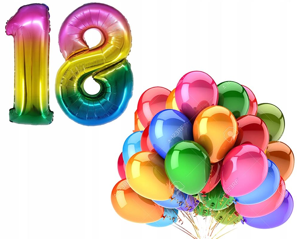 Kup Teraz Na Allegro Pl Za 19 99 Zl Balony Zestaw 18 Osiemnaste Urodziny Kolorowy 78cm 7851244837 Allegro Pl Radosc Zakupow I Bezpieczenstwo Dzieki Progr