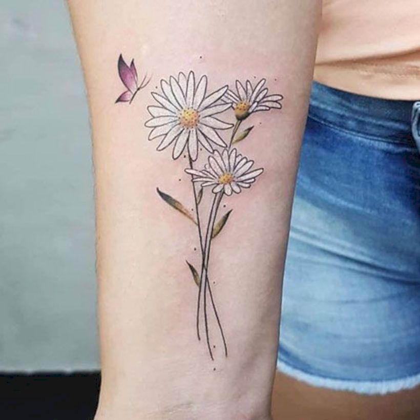 Pretty Daisy Tattoo: 50 Pretty Tattoo Designs Ideas For Women