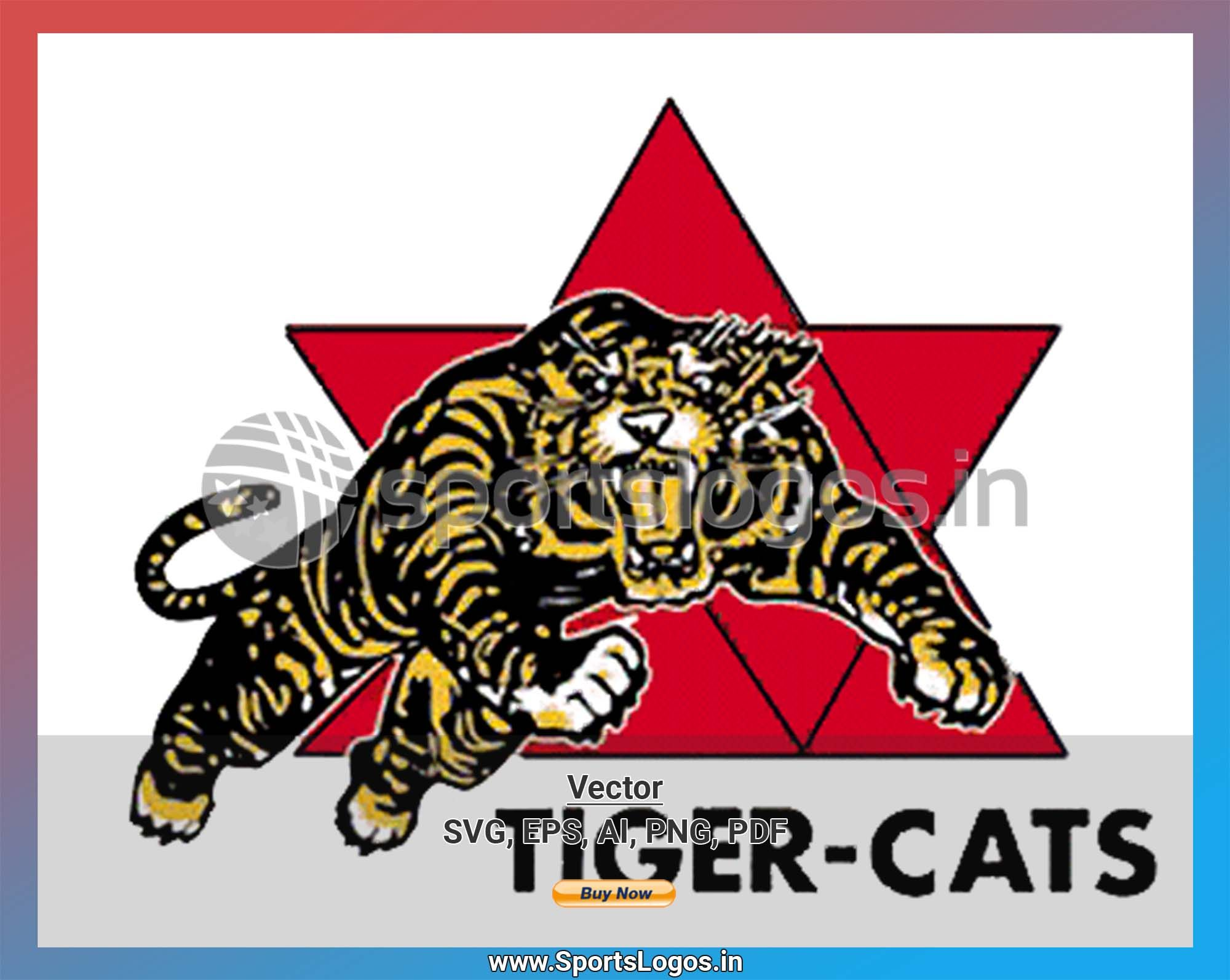 Hamilton Tiger Cats Football Sports Vector Svg Logo In 5 Formats Spln001731 Sports Logos Embroidery Vector For Nfl Nba Nhl Mlb Milb And More Embroidery Logo Canadian Football League Canadian Football
