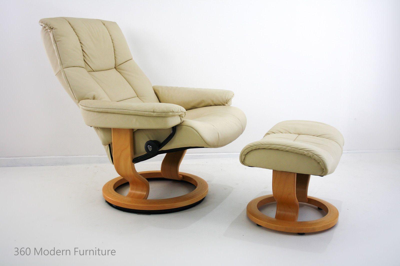 Stressless Ekornes Leather Armchair Recliner Swivel Chair Stool / Ottoman  Scandi | 360 Modern Furniture